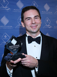 Jon Tatooles Accepts CAS Award on Behalf of Sound Devices - Image used with Permission of Getty Images