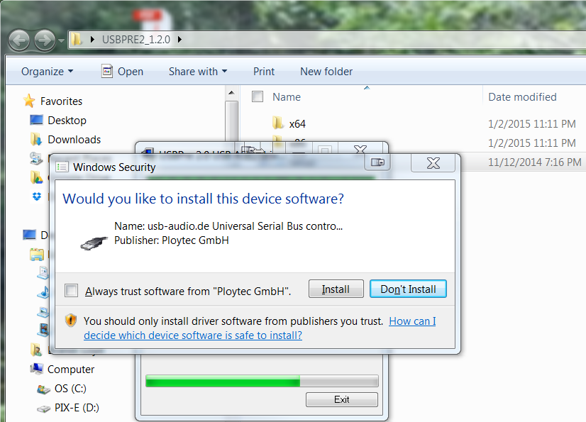 installing audio drivers windows 7