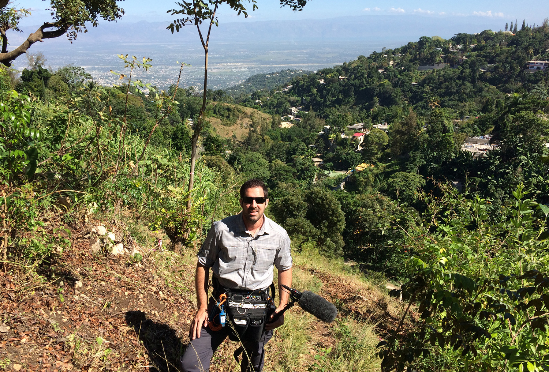 Zack Allen mixing in Haiti