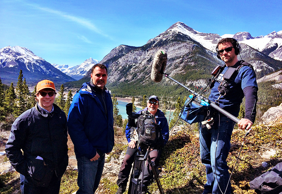 Brad Martin on location for an episode of CBC's The Nature of Things'