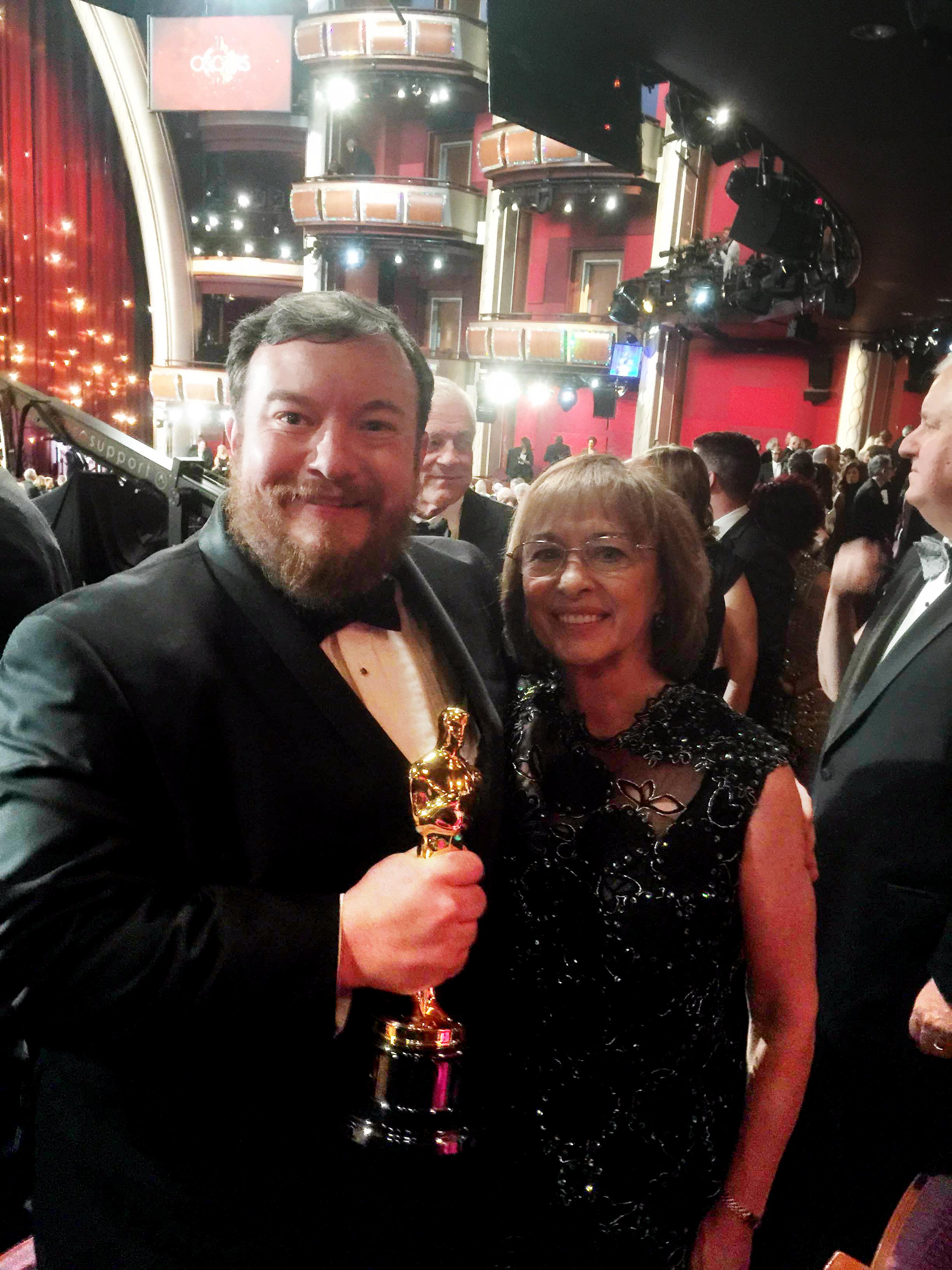 Thomas Curley with the Oscar