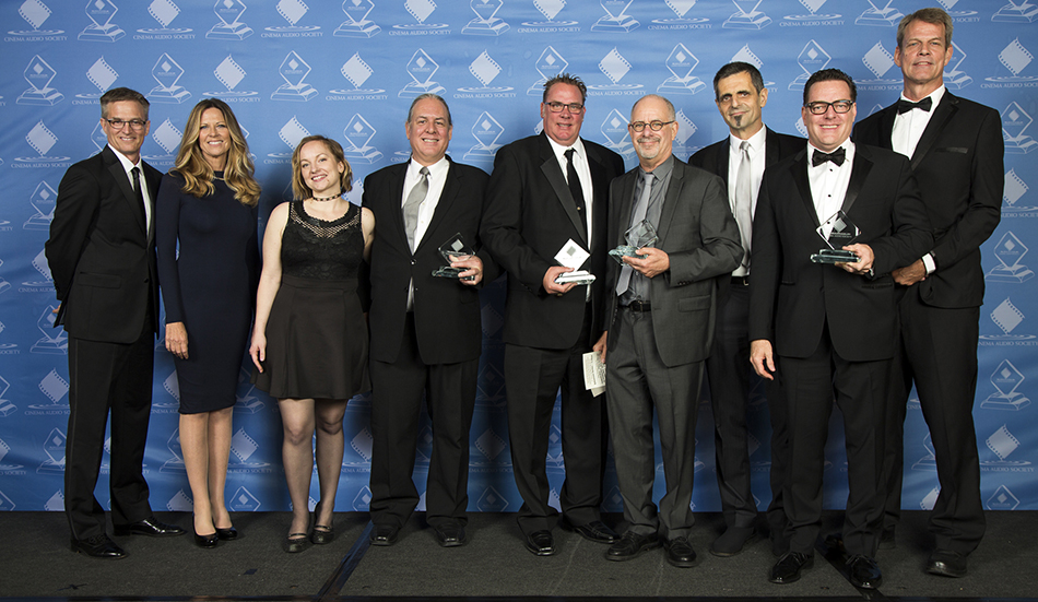Steve Tibbo and the crew at Modern Family with their CAS awards