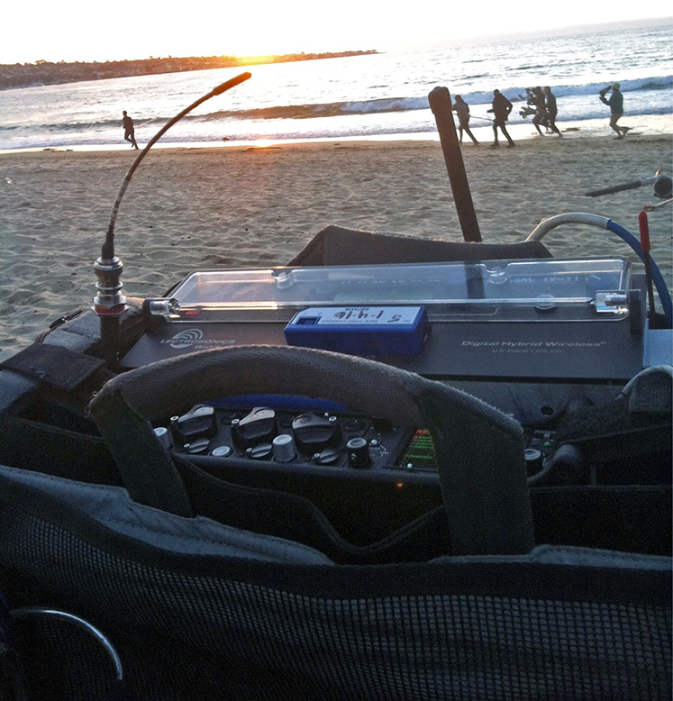 Brendan Beebe mixing on the beach for Big Little Liars