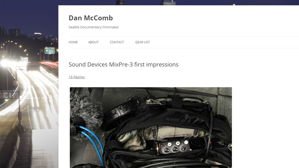 Dan McComb MixPre-3 Review