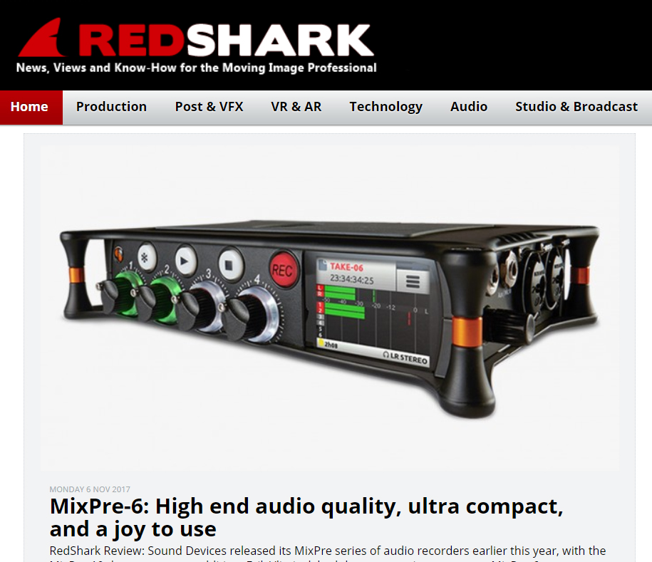 RedShark News MixPre-6 review