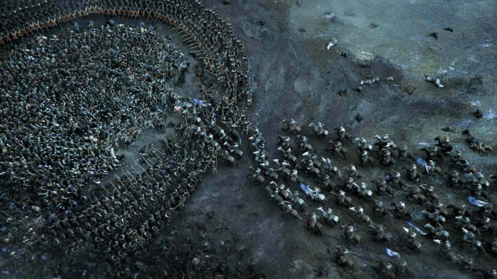 Massive battle scene from season 6 Game of Thrones- Photo Credit: HBO