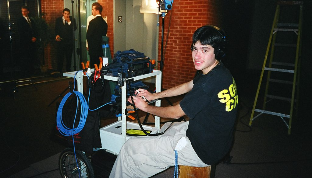 1999 at Colorado Film School. Shure FP33 mixer and an HHB Portadat with Timecode.