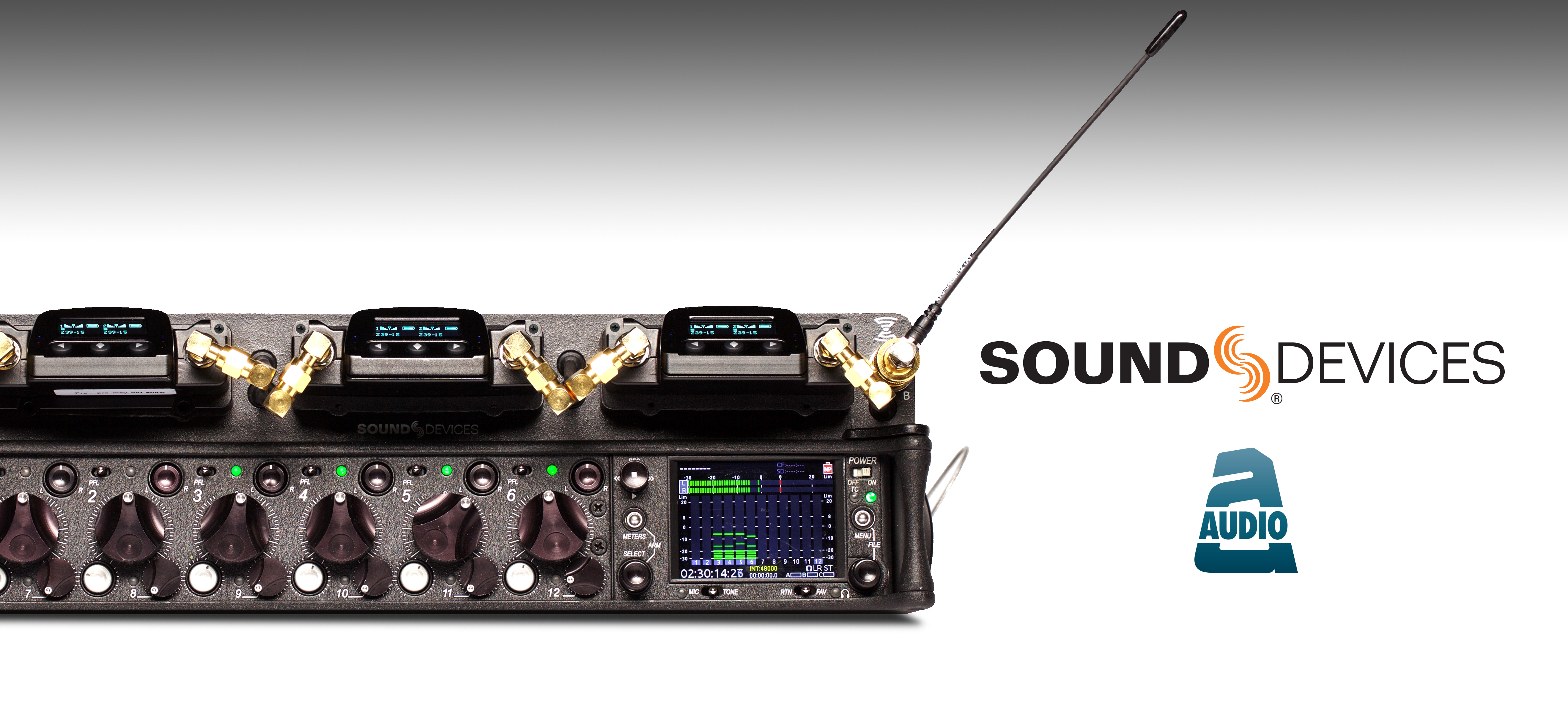 Sound Devices 688/SL-6 with Audio Ltd. A10-RX two-channel receivers