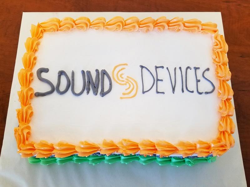 Sound Devices Employee Appreciation Cake