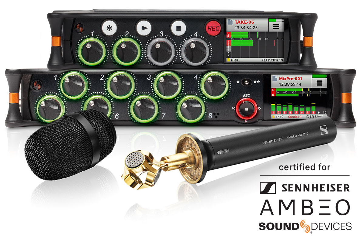 AMBEO mic with MixPre-6 and -10T recorders