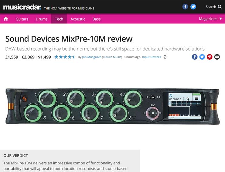 Music Radar MixPre-10M review