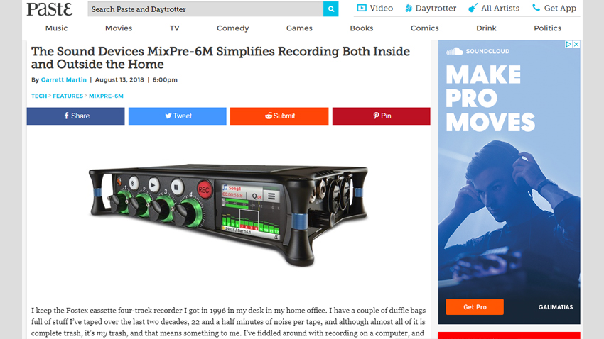 Paste Mag MixPre-6M Review