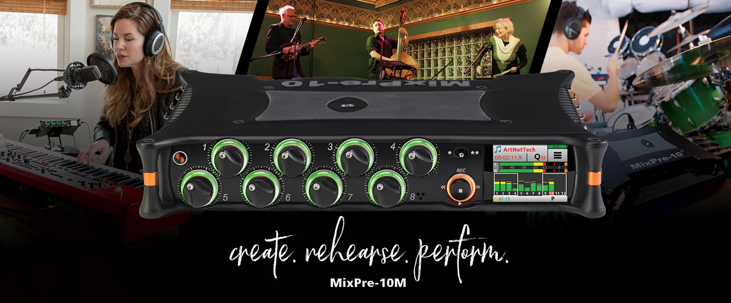 Introducing the MixPre-10M Recorder for Musicians
